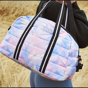 PINK Tie-Dye Quilted Duffle Bag